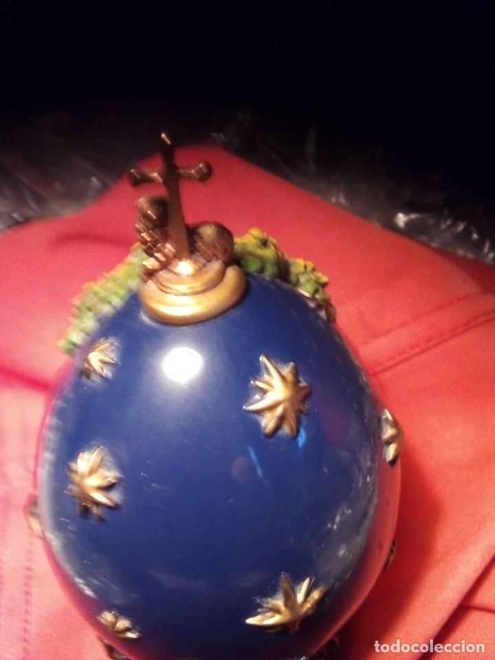Antigüedades: Ermoso huevo fabergecon permiso de los Romanov. - Foto 3 - 213608486