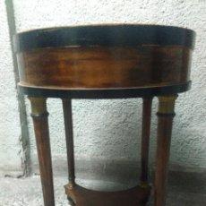 Antiquités: PEANA MACETERO IMPERIO CAOBA LACA NEGRA. Lote 213608700