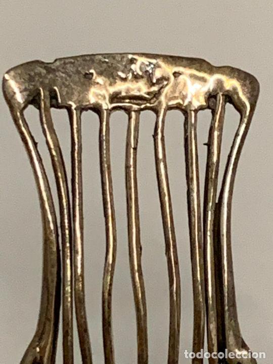 Antigüedades: encantadora silla o taburete, de plata, filigrana, miniatura, ideal casa muñecas o coleccion. - Foto 5 - 213615593