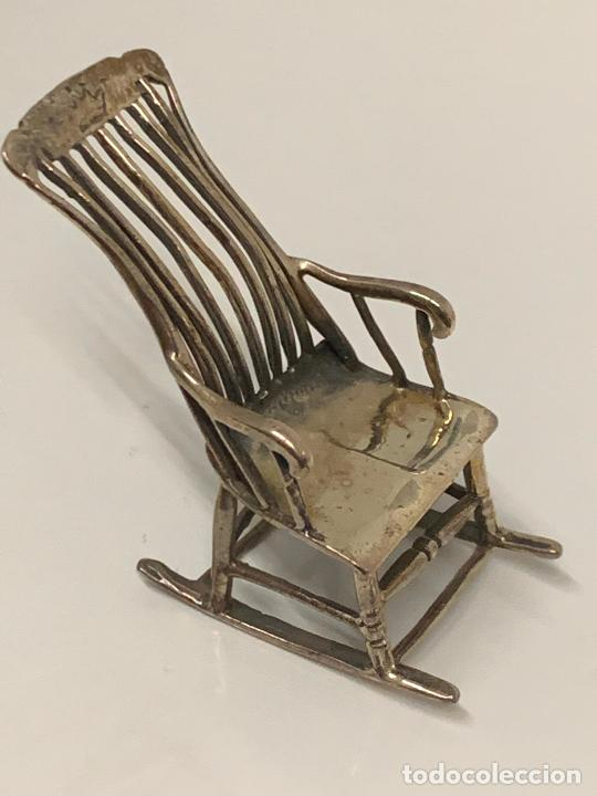 Antigüedades: encantadora silla o taburete, de plata, filigrana, miniatura, ideal casa muñecas o coleccion. - Foto 6 - 213615593