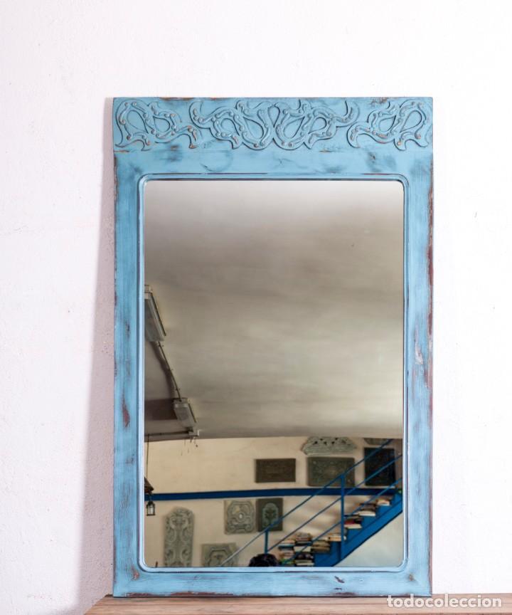 Antigüedades: Espejo Recuperado Christofer - Foto 2 - 213617076