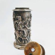 Antigüedades: MECHERO DE SOBREMESA RONSON EN PLATA.. Lote 213650273