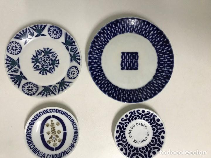 Antigüedades: Lote de cuatro platos de Sargadelos, Lugo, Galicia - Foto 2 - 213668650