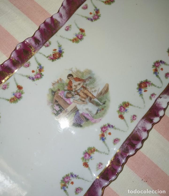 Antigüedades: BONITA BANDEJA DE PORCELANA - Foto 5 - 213673072