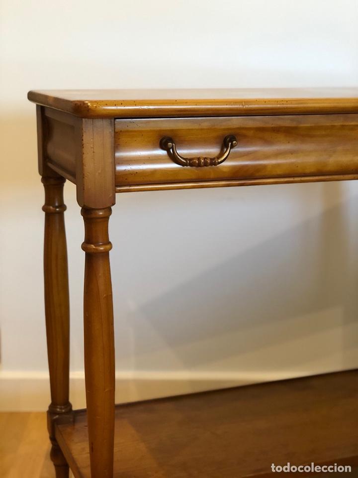Antigüedades: Mueble consola color caramelo circa 1.950 - Foto 2 - 212415810