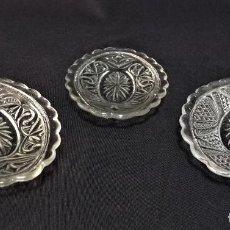 Antigüedades: TRES BANDEJAS DE CRISTAL DE SANTA LUCIA. (CARTAGENA). Lote 213696592