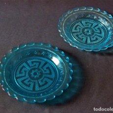 Antigüedades: PLATOS COLOR AZUL DE SANTA LUCIA. (CARTAGENA). Lote 213698038