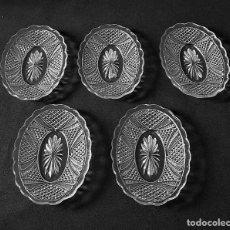 Antigüedades: BANDEJAS DE CRISTAL MOLDADO DE SANTA LUCIA. (CARTAGENA). Lote 213702486