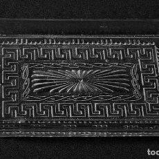 Antigüedades: BANDEJA DE CRISTAL MOLDADO DE SANTA LUCIA. (CARTAGENA). Lote 213702822