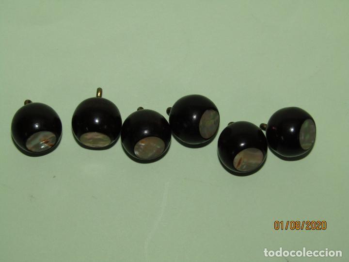 Antigüedades: Antiguo Lote de Botones en Nácar Madreperla, Latón y Pasta Tipo Baquelita o Similar - Año 1940-50s. - Foto 4 - 213710952