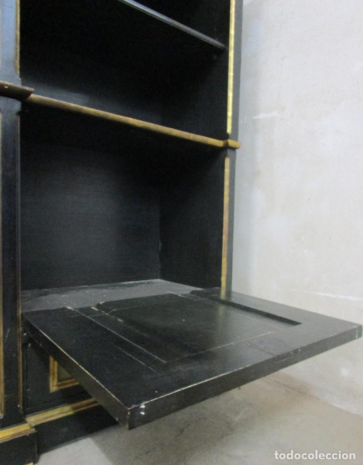 Antigüedades: Bonita Vitrina, Librería - Madera Policromada y Dorada - Puertas Abatibles - Ideal Biblioteca, etc - Foto 6 - 213716833