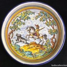 Antigüedades: CUENCO DE TALAVERA PINTADO A MANO. Lote 213719605