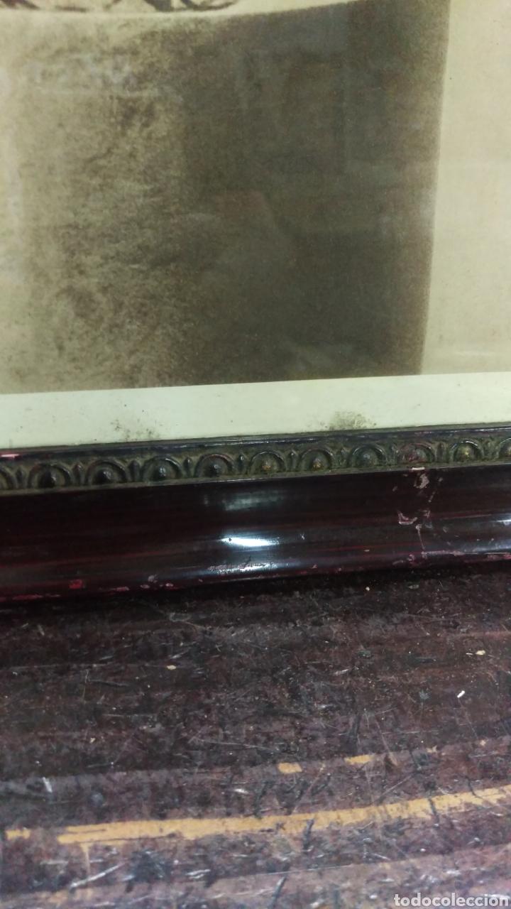 Antigüedades: Antiguo cuadro lamina imagen Virgen del Pilar - Foto 4 - 213722188