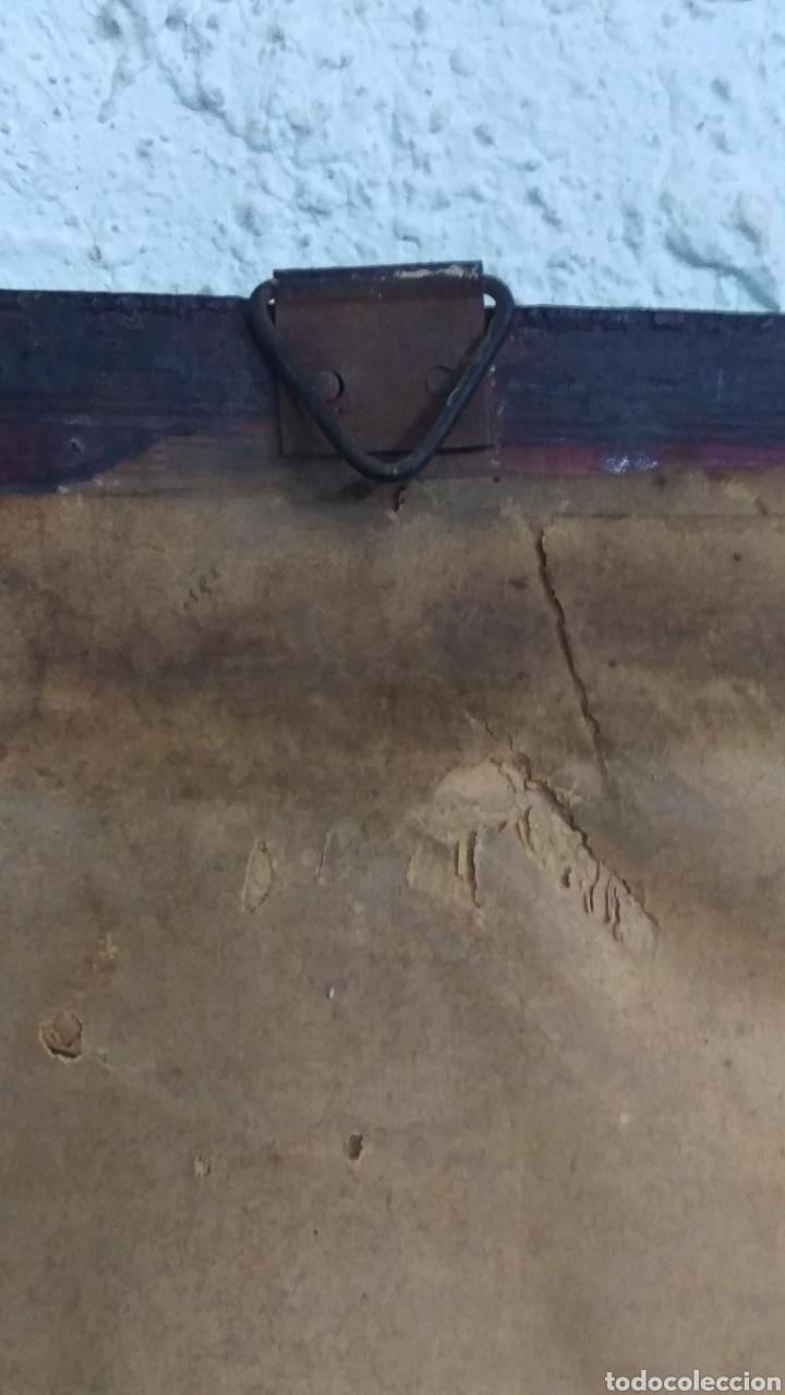 Antigüedades: Antiguo cuadro lamina imagen Virgen del Pilar - Foto 6 - 213722188