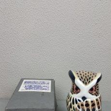 Oggetti Antichi: BUHO REAL DE CASTRO /SARGADELOS, MIDE 18,5 CM. DE ALTURA. PERFECTO ESTADO EN SU CAJA ORIGINAL. Lote 213745818