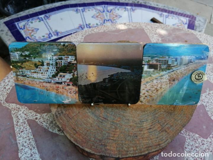 Antigüedades: JUEGO DE 6 POSAVASOS PLAYA VINTAGE AÑOS 60 - Foto 2 - 213745836