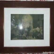 Antigüedades: MARCO ISABELINO DE CAOBA, SIGLO XIX. Lote 213750270