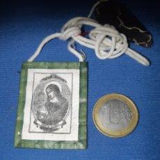 Antigüedades: ANTIGUO ESCAPULARIO DE SANTA CLARA. Lote 213761738