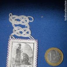 Antigüedades: ANTIGUO ESCAPULARIO, BENDICIÓN DE SAN FRANCISCO DE ASÍS. Lote 213762286
