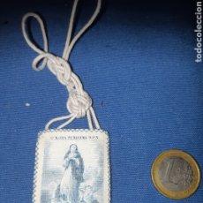 Antigüedades: ANTIGUO ESCAPULARIO DE MARÍA PURÍSIMA R P N. Lote 213763276