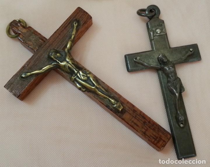Antigüedades: Crucifijos. Colgantes. Pareja. Preciosos. - Foto 3 - 213769470