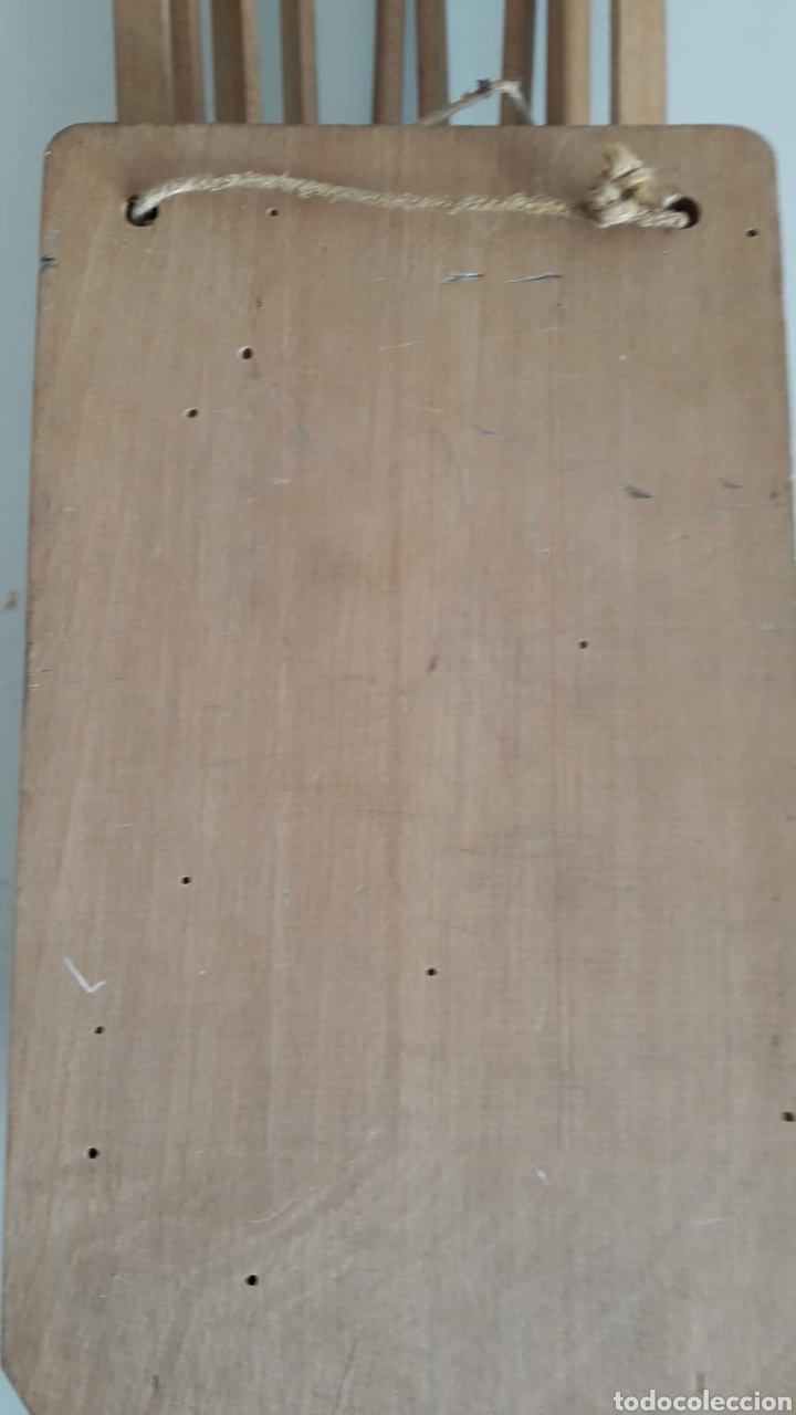 Antigüedades: Fantástico antiguo perchero extensible en madera y metal - Foto 4 - 213776161