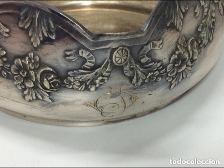 Antigüedades: Antigua Cesta fechada de 1908 baño de plata.18x17x18cm - Foto 5 - 213776253