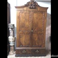 Antigüedades: ANTIGUO ARMARIO DE RAÍZ DE NOGAL. Lote 213776996