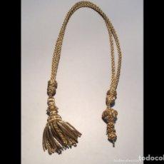 Antigüedades: ANTIGUO CORDÓN CON BORLA PARA ABANICO. Lote 213777581