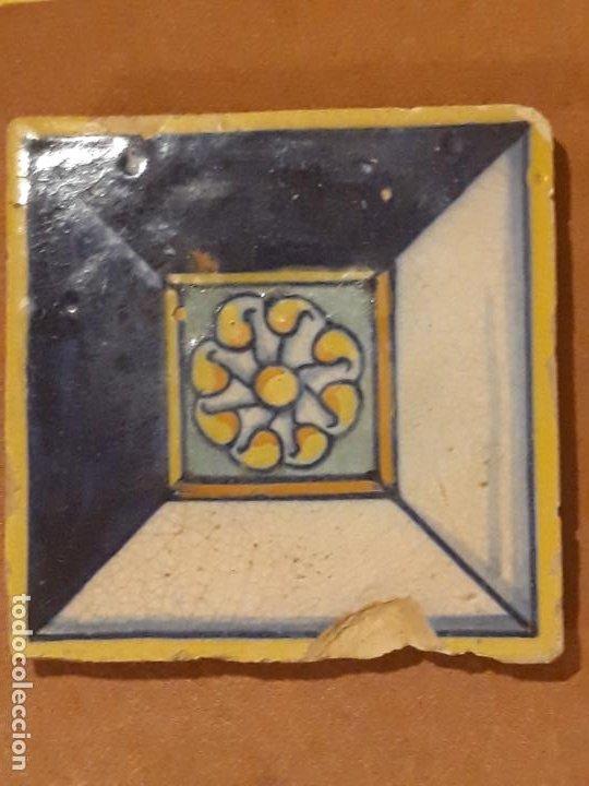Antigüedades: AZULEJO ANTIGUO DE TALAVERA / TOLEDO - RENACIMIENTO - SIGLO XVI - - Foto 5 - 211812092