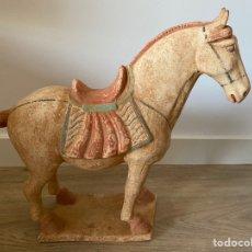 Antigüedades: CABALLO GRANDE EN TERRACOTTA ÉPOCA DINASTÍA TANG TERRACOTA CHINA. Lote 213787628