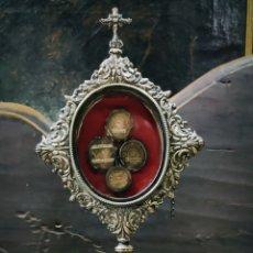 Antigüedades: RELICARIO CUSTODIA DE PLATA, S XIX. Lote 213798502