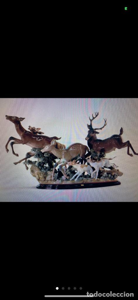 CIERVOS PERSEGUIDOS LLADRO (Antigüedades - Porcelanas y Cerámicas - Lladró)