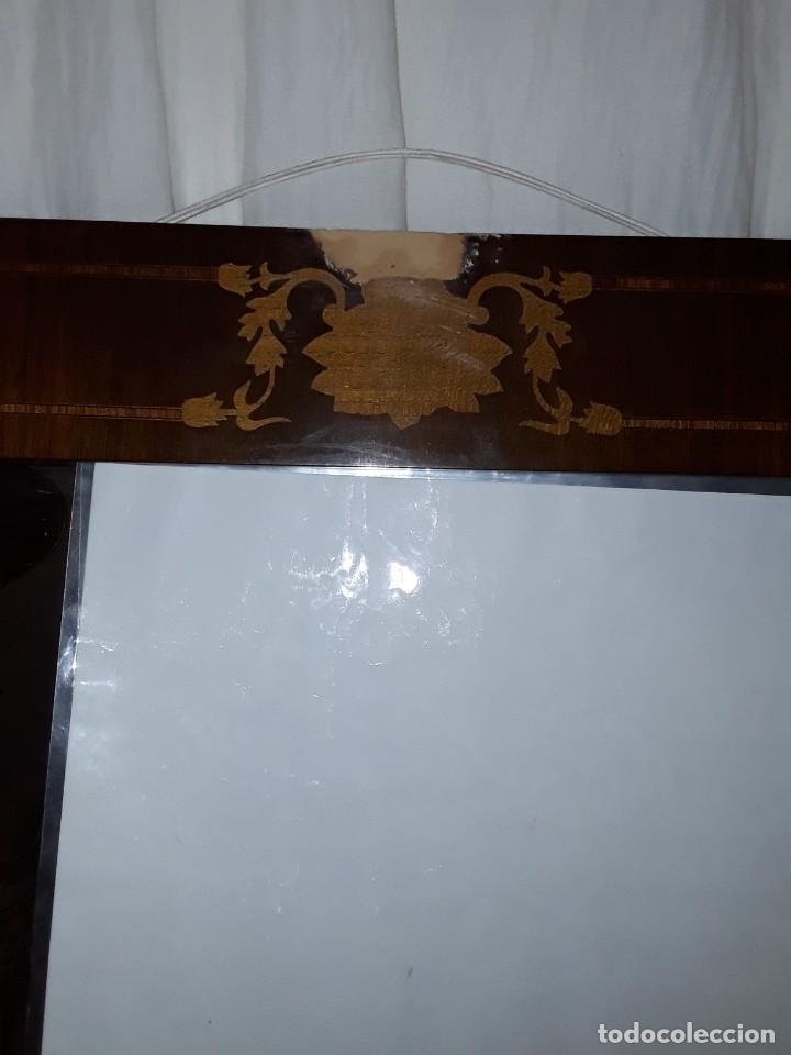 Antigüedades: Espejo mallorquin caoba y marqueteria para restaurar. - Foto 2 - 213811533