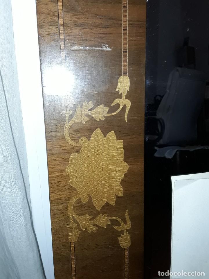 Antigüedades: Espejo mallorquin caoba y marqueteria para restaurar. - Foto 3 - 213811533