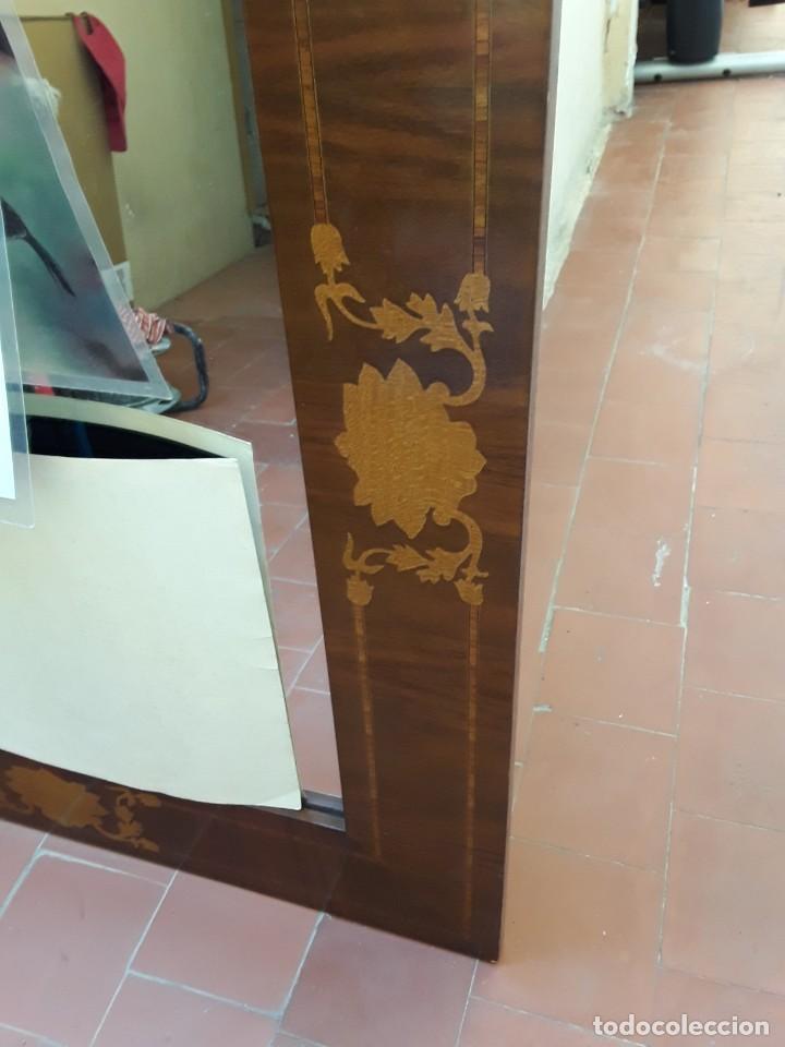 Antigüedades: Espejo mallorquin caoba y marqueteria para restaurar. - Foto 6 - 213811533