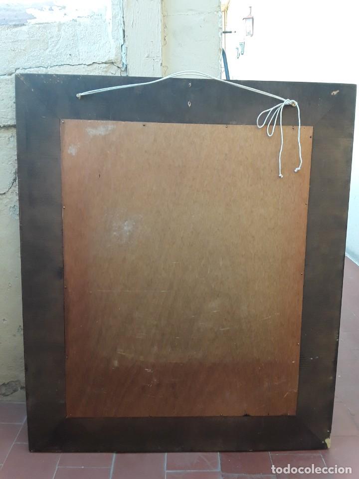 Antigüedades: Espejo mallorquin caoba y marqueteria para restaurar. - Foto 7 - 213811533