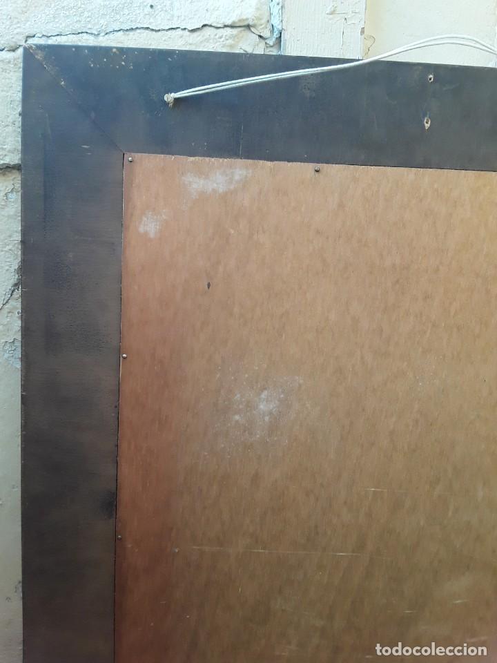 Antigüedades: Espejo mallorquin caoba y marqueteria para restaurar. - Foto 8 - 213811533