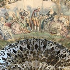 Antigüedades: ABANICO ISABELINO S.XIX DE NÁCAR Y PAPEL PINTADO A DOS LADOS. Lote 213865303