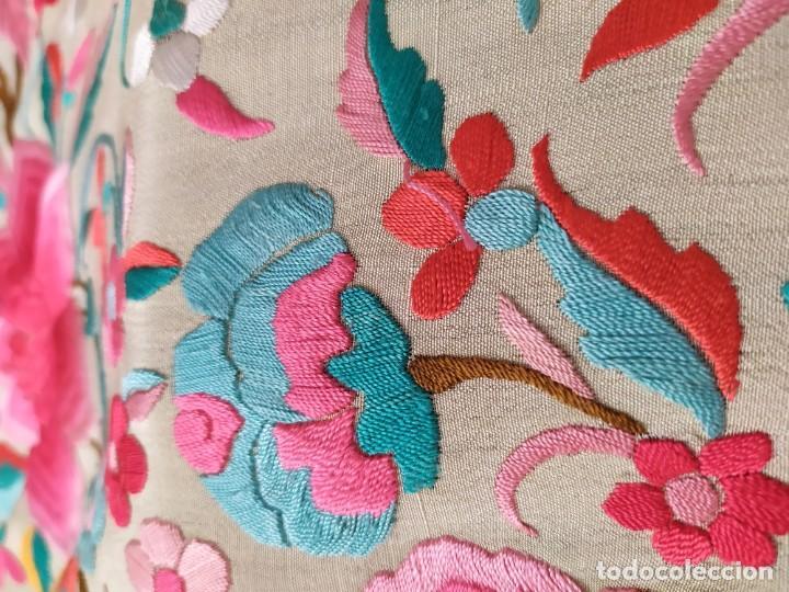 Antigüedades: Impresionante mantón de Manila del S. XIX - Foto 22 - 213877765