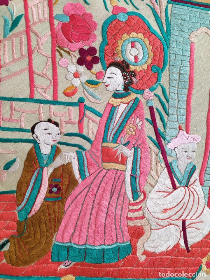 Antigüedades: Impresionante mantón de Manila del S. XIX - Foto 26 - 213877765