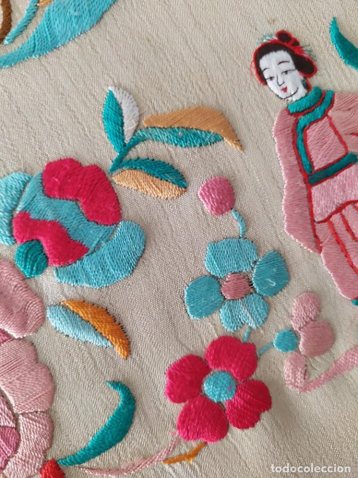 Antigüedades: Impresionante mantón de Manila del S. XIX - Foto 29 - 213877765