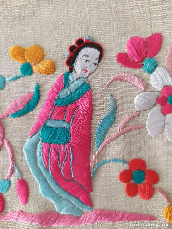 Antigüedades: Impresionante mantón de Manila del S. XIX - Foto 30 - 213877765