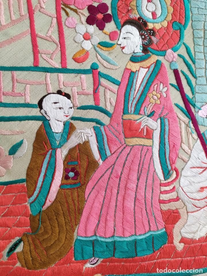 Antigüedades: Impresionante mantón de Manila del S. XIX - Foto 34 - 213877765