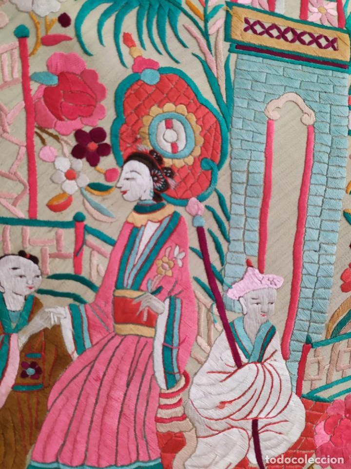 Antigüedades: Impresionante mantón de Manila del S. XIX - Foto 37 - 213877765