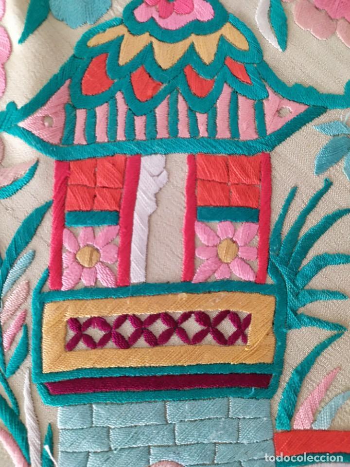 Antigüedades: Impresionante mantón de Manila del S. XIX - Foto 38 - 213877765