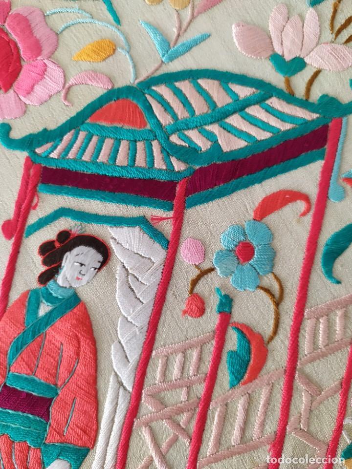 Antigüedades: Impresionante mantón de Manila del S. XIX - Foto 39 - 213877765