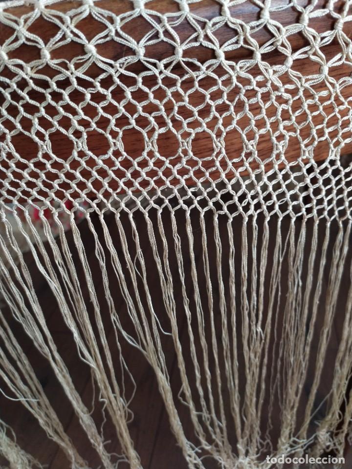 Antigüedades: Impresionante mantón de Manila del S. XIX - Foto 47 - 213877765