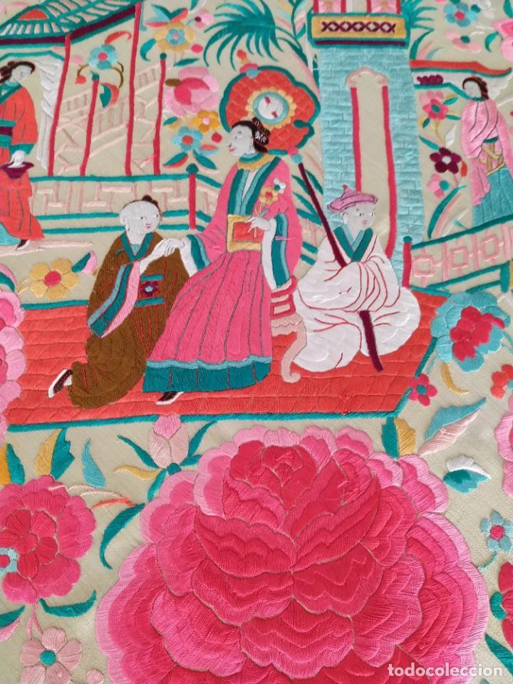 Antigüedades: Impresionante mantón de Manila del S. XIX - Foto 49 - 213877765