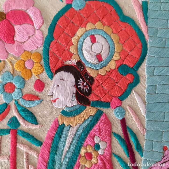 Antigüedades: Impresionante mantón de Manila del S. XIX - Foto 51 - 213877765